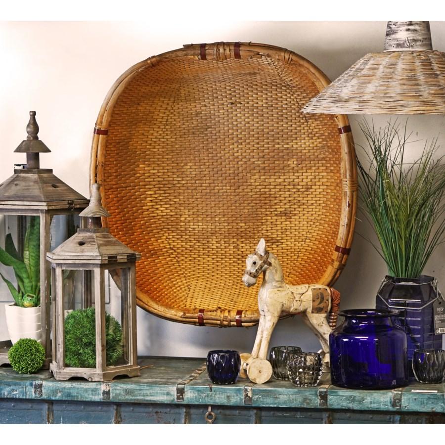 Square Antique Willow Basket