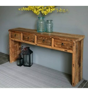 Pierre 4 Drw Console Table