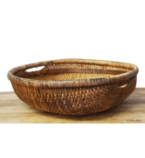 Old Rattan Chinese Baskets, color may vary, 12.6x12.6x3.9 Inches On sale 25% off