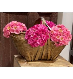 Vintage bamboo basket