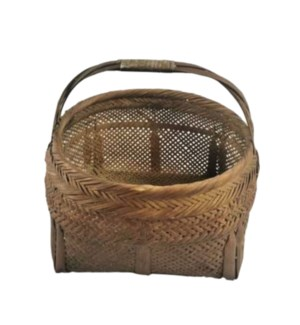 """Vintage bamboo basket, On Sale 25% Off"""