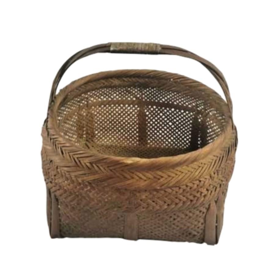 """""""Vintage bamboo basket, On Sale 25% Off"""""""