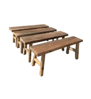 """Wooden Bench 48 in, Natural"""