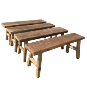 """Wooden Bench 59 in, Natural"""
