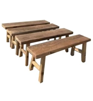 """Wooden Bench 67 in, Natural"""