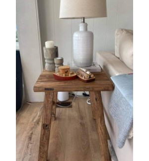 """Side Table, Recycled Elm, Natural"""