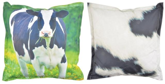 Outdoor cushion cow L. 600D PVC woven material, non woven, PP filling. 59,0x59,0x13,0cm. oq/6,mc/6