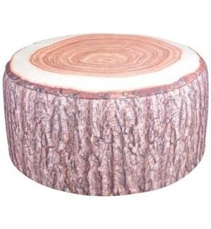 Outdoor pouffe tree trunk. Pol