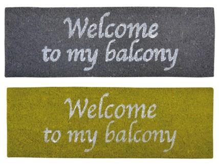 Balcony doormat ass. Coconut fibre, PVC. 75,0x25,0x2,0cm. oq/6,mc/6 Pg.83FD