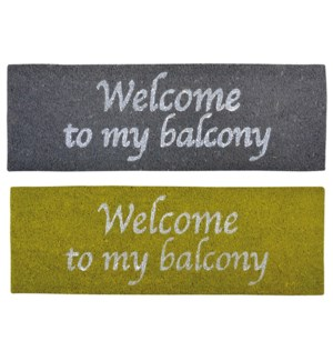 """Balcony doormat ass. Coconut fibre, PVC. 75,0x25,0x2,0cm. oq/6,mc/6 Pg.83FD"""