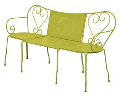 Bench classic green. Metal. 153,0x47,0x83,5/153,0x77,5x83,5cm. oq/1,mc/1 Pg.81