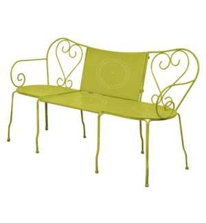 """Bench classic green. Metal. 153,0x47,0x83,5/153,0x77,5x83,5cm. oq/1,mc/1 Pg.81"""