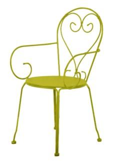 Chair classic green. Metal. 49,5x47,0x90,8cm. oq/2,mc/2 Pg.81