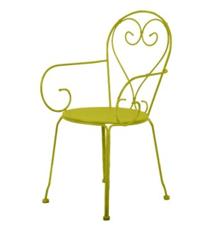 Chair classic green. Metal. 49