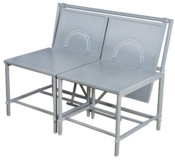 Convertible bench grey. Metal. 98,0x54,0x74,0cm. oq/1,mc/1 Pg.81