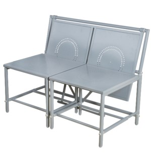 Convertible bench grey. Metal.
