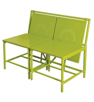 """Convertible bench green. Metal. 98,0x54,0x74,0cm. oq/1,mc/1 Pg.81"""