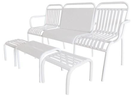 Garden set 4 pcs metal white. Metal. 156,0x54,5x79,0/48,8x37,0x32,7/32,3x36,0x29,0cm. oq/1,mc/1 Pg.