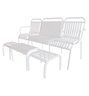 Garden set 4 pcs metal white.