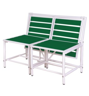 """Magical bench green. Metal, p"""