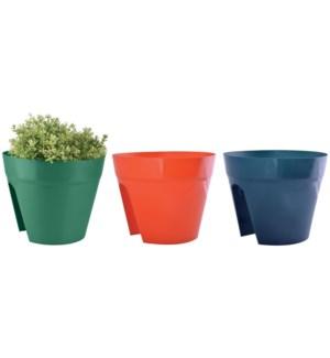 Saddle flower pot 3 colours as