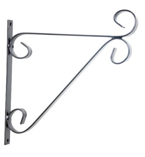 Hanging basket hook scroll L