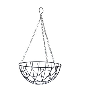 """Metal hanging basket 10"""""""