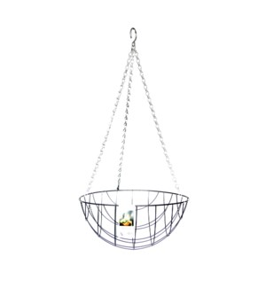 """Metal hanging basket 12"""""""