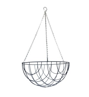 """Metal hanging basket 15.5"""""""