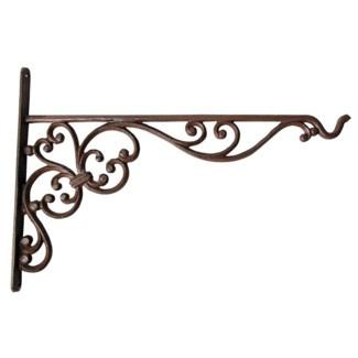 Cast iron hanging basket hook L. Cast iron. 35,5x2,4x24,7cm. oq/6,mc/24 Pg.69