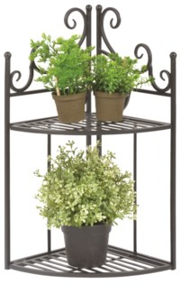 Corner etagere folding - (8.7x8.7x18.6 inches)