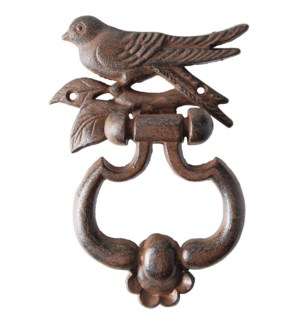 Bird silhouette doorknocker. Cast iron. 13,2x4,0x17,9cm. oq/12,mc/12 Pg.140