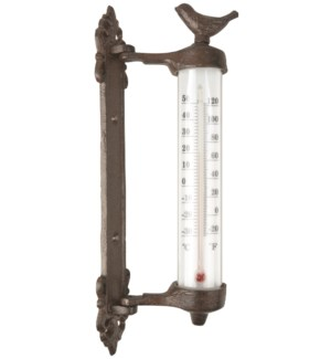Wall thermometer bird in