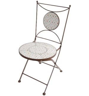 Botanicae chair. Ceramics, metal. 40,0x54,0x88,0cm.  On sale 35% off!
