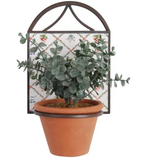 Botanicae potholder 1 pot. Ceramics, metal. 17,0x15,5x23,0cm. 15% off original price of $11.50FD