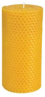 Beeswax candle L. Beeswax, cunninghamia wood. 7,6x7,6x15,1cm. oq/12,mc/36 Pg.86 -
