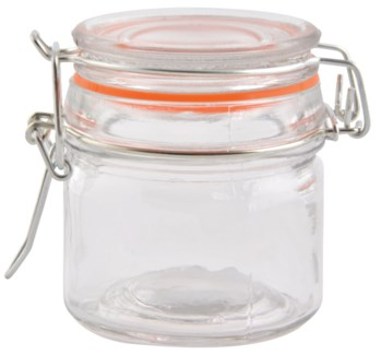 Flip top jar set 12 pcs S. Glass, metal, rubber. 27,5x24,0x7,5cm. oq/8,mc/8