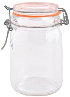 Flip top jar set 6 pcs L. Glass, metal, rubber. 22,4x17,3x12,2cm. oq/8,mc/8 Pg.89