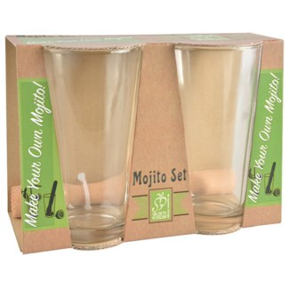 Mojito set. Glass, beech wood. 21,8x10,4x15,4cm. oq/12,mc/12 Pg.86