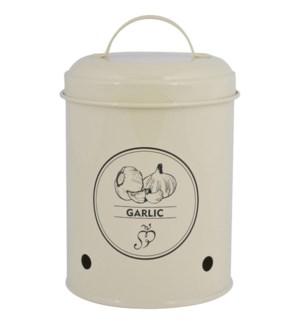 Storage tin garlic. Carbon Ste