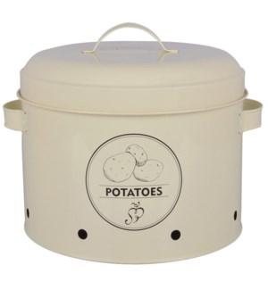 Storage tin potato. Carbon Ste