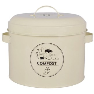 Composter tin. Carbon steel, activated carbon filter. 27,0x23,2x21,3cm. oq/4,mc/4 Pg.89