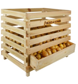 Wooden potato crate - (23.4x18.5x19.4 inches)