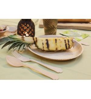 Disposable palm leaf plate set