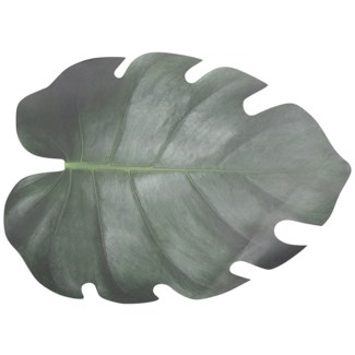 Paper place mats leaf shape set/10, Paper - 18.2x12.9x0in.