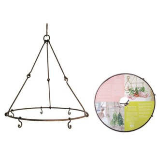 Herb and flower dryer with 6 hooks. Metal. 35,4x35,4x40,0cm.