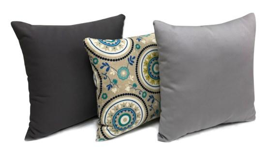 Paisley Cushion, Set/3, 17x17