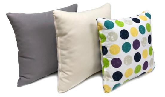 Polka Dot Cushions, Set/3, 17x17