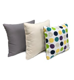Polka Dot Cushion S/3