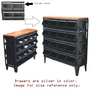 16 drawer metal display storage unit. 45x16x49inch - *50 percent off with $750 order of Hardware*
